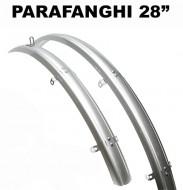 Parafanghi Bici 28 pollici Uomo/Donna City Bike in Resina Colore Grigio