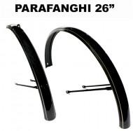Parafanghi Bici 26 Pollici Colore Nero con Bordi Oro
