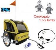Carrello o Carretto Bici Posteriore Trasporto Bimbi in Alluminio