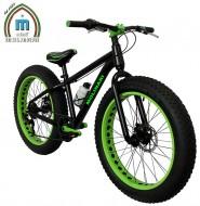 Bici 24 Pollici Bimbo da 10 a 14 Anni MTB FAT BIKE Telaio in Alluminio Freni a Disco Modello BIG FAT