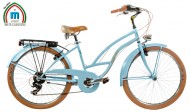 Bici 26 Pollici CRUISER Telaio Donna in Acciaio con Cambio Shimano Modello ISLAND